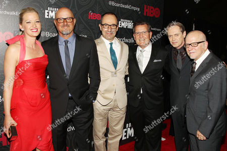 Gretchen Mol, Tim Van Patten (Exec. Producer), Steve Buscemi wit