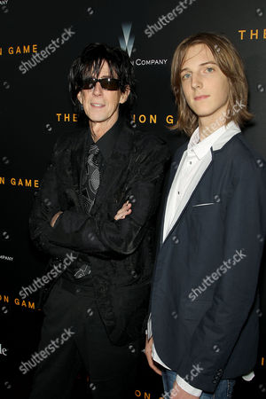Stock Picture of Ric Ocasek with son Oliver Orion Ocasek
