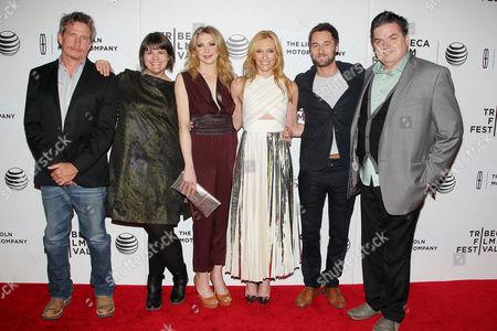Stock Photo of Thomas Haden Church, Megan Griffiths (director), Nina Arianda, Toni Collette, Ryan Eggold and Oliver Platt