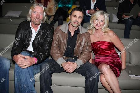 Richard Branson, Olivier Martinez and Sharen Turney (Victoria's Secret CEO)