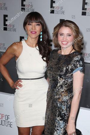 Stock Photo of Candice Kumai and Anna Boiardi