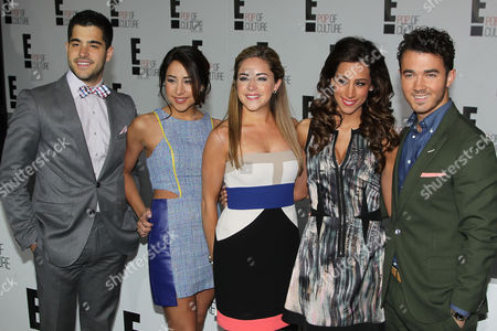 "Stock Picture of Michael ""Mikey"" Deleasa, Katie Deleasa, Dina Deleasa, Danielle Deleasa and Kevin Jonas"