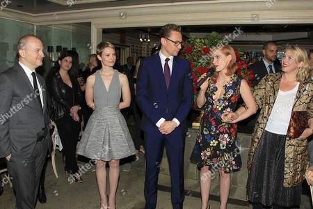 Stock Picture of Joshua Schulman, Mia Wasikowska, Tom Hiddleston, Jessica Chastain, Kate Hawley