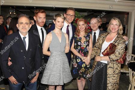 Stock Image of David Hoey, Douglas Little, Mia Wasikowska, Tom Hiddleston, Jessica Chastain, Joshua Schulman, Kate Hawley