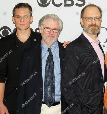 Billy Magnussen, Christopher Durang and David Hyde Pierce