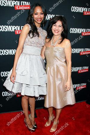 Zoe Saldana and Donna Kalajian Lagani