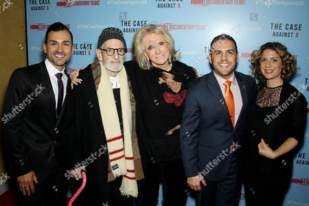 Paul Katami, Larry Kramer, Sheila Nevins (Pres.HBO Doc. Films), Jeff Zarrillo, Sara Bernstein (Vice Pres. HBO Doc. Films)