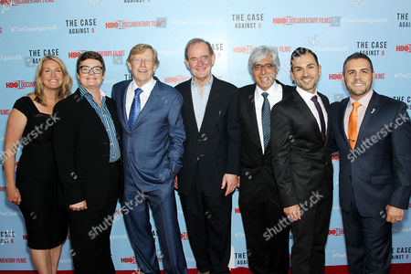 Stock Photo of Sandy Stier, Kris Perry, Ted Olsen, David Boies, Ted Boutrous, Paul Katami, Jeff Zarrillo
