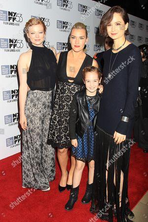 Sarah Snook, Kate Winslet, Ripley Sobo and Katherine Waterston