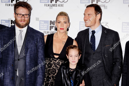 Stock Picture of Seth Rogen, Kate Winslet, Ripley Sobo and Michael Fassbender