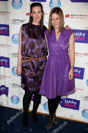 Kim France (Editor in Chief of Lucky) and Gina Sanders (VP of Publishing of Lucky)