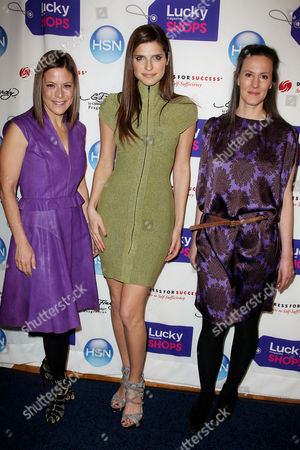 Gina Sanders (VP of Publishing of Lucky), Lake Bell and Kim France (Editor in Chief of Lucky)