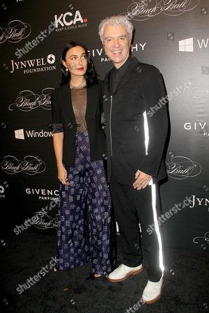 Stock Photo of Malu Abeni Valentine Byrne and David Byrne