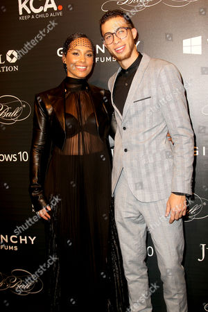 Alicia Keys with Brother Cole Cook