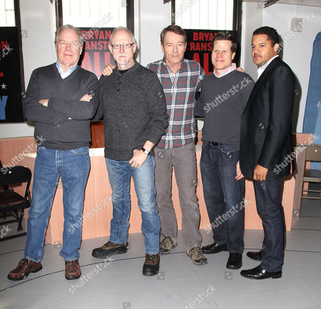 Stock Photo of Michael McKean, Robert Schenkkan, Bryan Cranston, Bill Rauch and Brandon J Dirden