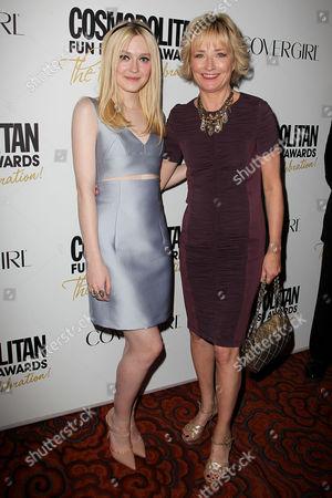 Dakota Fanning and Kate White (COSMOPOLITAN Editor-in-chief)