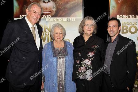 Stock Photo of Dr. Richard Leakey, Dame Daphne M. Sheldrick, Dr. Birute Mark Ga