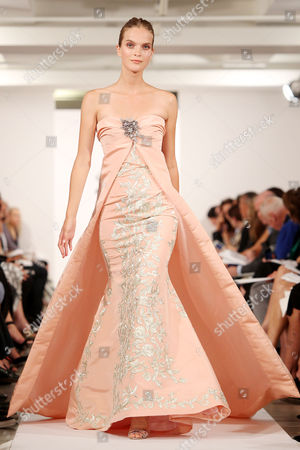 Editorial image of Oscar de la Renta show, Spring Summer 2014, Mercedes-Benz Fashion Week, New York, America - 10 Sep 2013