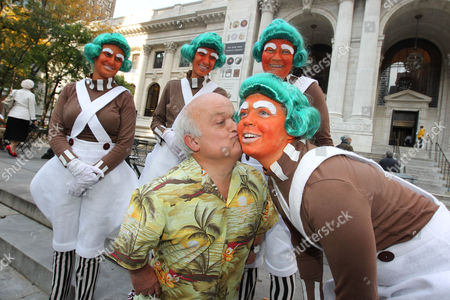 Rusty Goffe (the original cartwheeling Oompa-Loompa) with Oompa's