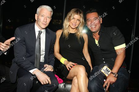 Stock Image of Anderson Cooper, Stacy Ferguson and Sean Patterson