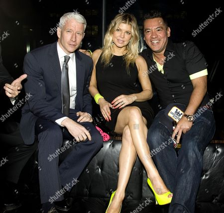 Stock Picture of Anderson Cooper, Stacy Ferguson and Sean Patterson