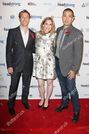 Stock Image of Zach Iscol, Anna Chlumsky and Shaun So