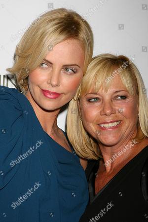 Charlize Theron and Gerda Theron (mother)