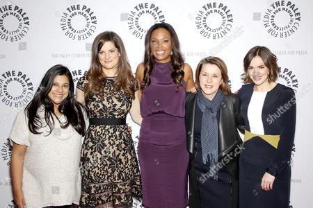 Stock Picture of Reshma Saujani, Carrie Kemper, Aisha Tyler, Tami Erwin, Elizabeth Henstridge