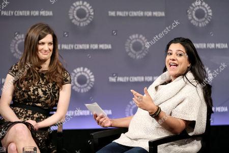 Stock Photo of Carrie Kemper, Reshma Saujani (Moderator)