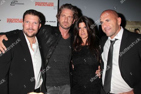 Stock Image of Craig Chapman, Gerard Butler, Robbie Brenner and Gary Safady