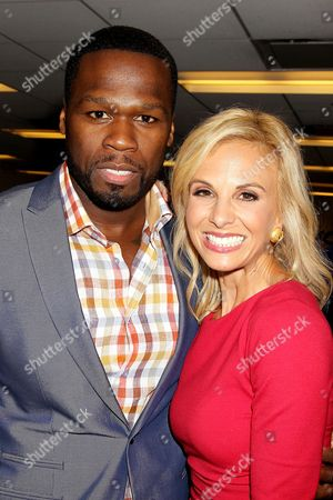 "Curtis "" 50 Cent "" Jackson and Elisabeth Hasselbeck"