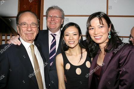 Rupert Murdoch, Howard Stringer, Ziyi Zhang and Wendy Murdoch