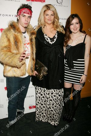 Kirstie Alley with William True Stevenson (son) and Lillie Price