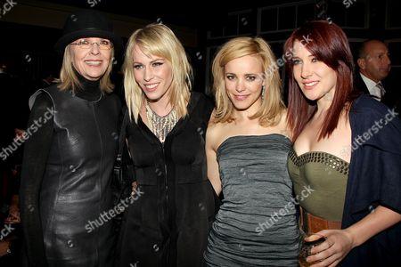 Diane Keaton, Natasha Bedingfield, Rachel McAdams and Nikola Bedingfield