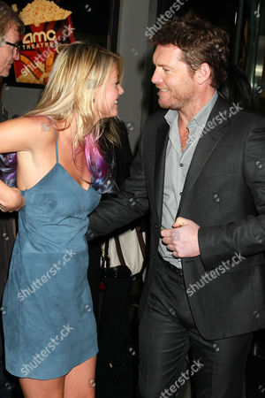 Crystal Humphries and Sam Worthington