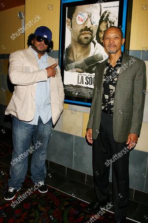 Stock Photo of DJ Shino and Paul Calderon