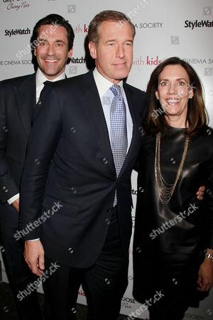 Jon Hamm, Brian Williams and Jane Stoddard Williams