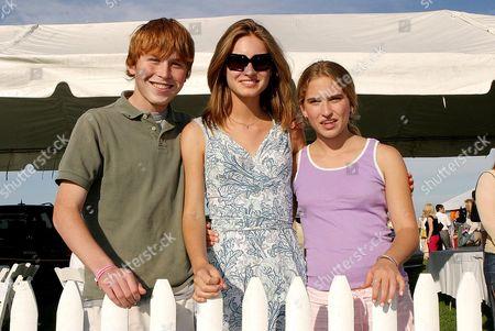 Stock Picture of Pierce Bush, Lauren Bush and Ashley Bush.