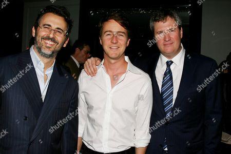 David Mimran, Edward Norton and Jordan Schur