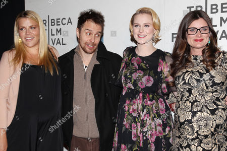 Busy Philipps, Sam Rockwell, Evan Rachel Wood and Kat Coiro