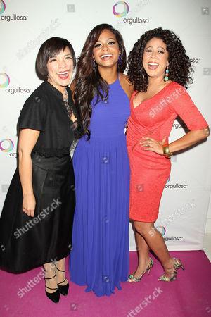Stock Picture of Maribel Lieberman, Christina Milian and Evette Rioz