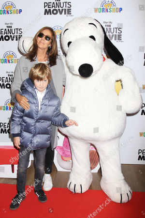 Kelly Kline, Lukas Kline and Snoopy