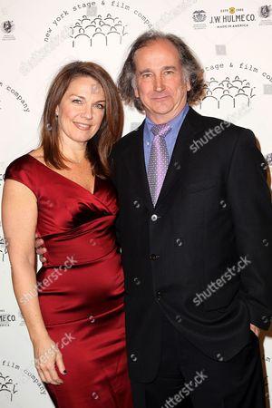 Stock Image of Christa Justus and Mark Linn-Baker