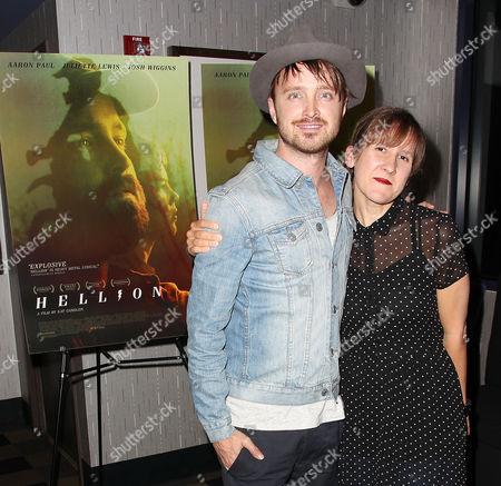Stock Photo of Aaron Paul and Kat Chandler