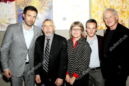 Ben Affleck, Tony Mendez, Sharon Seymour, Chris Terrio and Victor Garber
