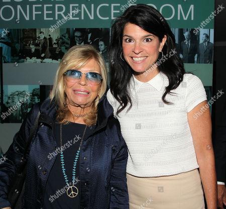 Nancy Sinatra and Maureen J. Reidy (Pres; Paley Center for Media)