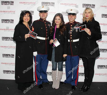 Donna Kalajian Lagani, David Carey and Lucy Hale