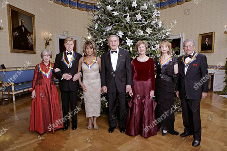 Julie Harris, Robert Redford, Tina Turner, George W Bush, Laura Bush, Suzanne Farrell and Tony Bennett
