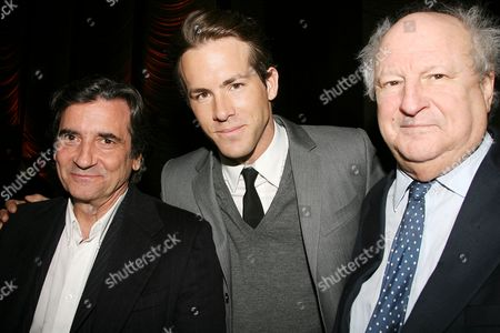 Griffin Dunne, Ryan Reynolds and Bobby Zarem