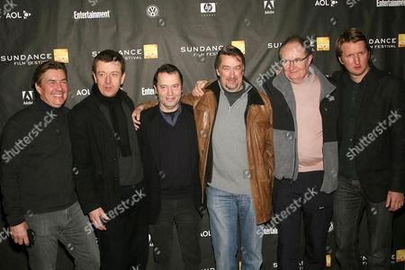 Andy Harris, Peter Morgan, Colin Calendar, Geoffrey Gilmore, Jim Broadbent and Tom Hooper at 'Longford' film screening